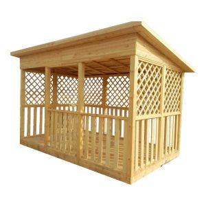 Производим и продаем деревянные беседки для установки на участке