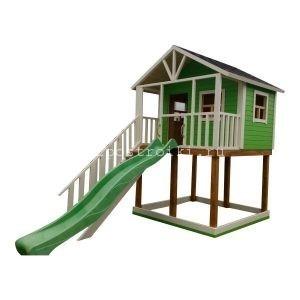 Детская игровая площадка с домиком горкой и песочницей
