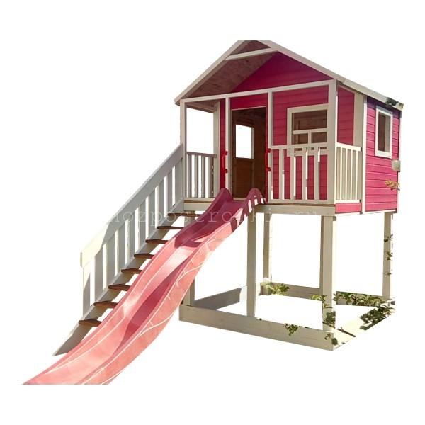 Дачная детская площадка с горкой и домиком