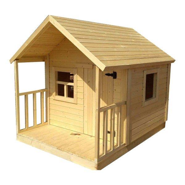 Игровой домик из дерева для игры на даче