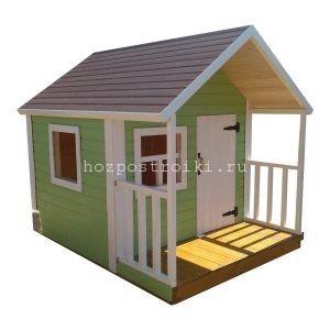 Деревянный домик для ребенка с окраской
