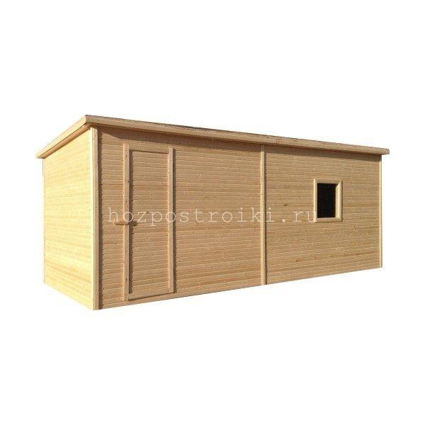 Бытовка деревянная недорогая без внутренней отделки