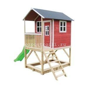 Детская площадка «Маргарита» с домиком горкой и песочницей.