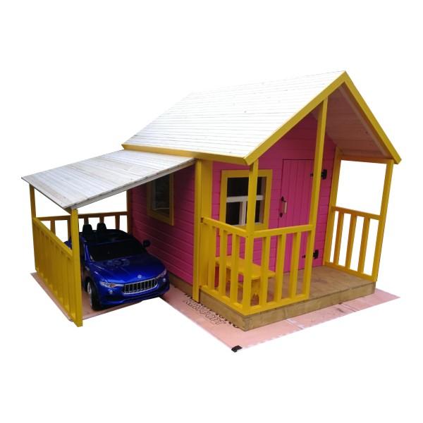 Детский домик с гаражом