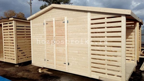 Готовый сарай с помещением для дров