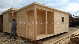 Строительство деревянных бытовок